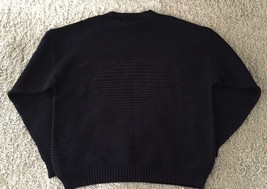 Mens Towne 100% Acrylic Black Sweater, Size 2X, Made In USA By London Fog - $27.50