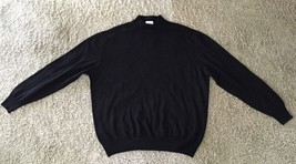 Mens Linea Uomopure Wool Black Sweater, Size XXL/56, Made In Italy - $49.99