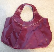 Womens Nine West Large Wine Red Purse - $20.00