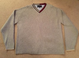 Mens Tomy Hilfiger 100% Cotton Gray Sweater, Size XL - $50.00