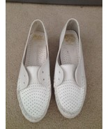 Nurse Mates White Leather Upper, Slip-On Shoes, Size 9M - $30.00