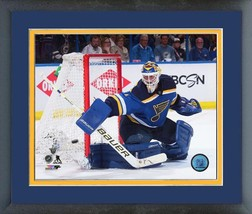 Brian Elliott Blues 2016 Stanley Cup® Playoffs  - 11x14 Matted/Framed Photo - $42.95