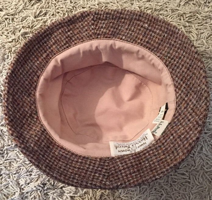 a0b783268ab LL Bean Harris Tweed Hand Woven 100% Scottish Wool Gore-tex Hat