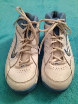 Girls Nike Uptempo High Top Sneakers Size 7Y White & Blue Leather Nikeflex - $20.00