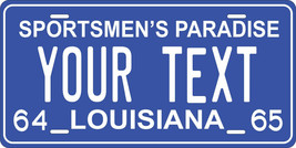 Louisiana 1964 License Plate Personalized Custom Car Bike Motorcycle Mop... - $10.99+