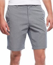 CLUB ROOM PINSTRIPED FLAT-FRONT SHORTS LIGHT GREY 40 - $14.84