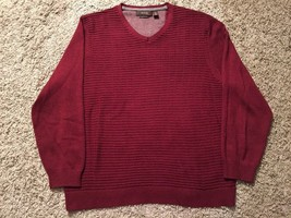 Mens Tasso Elba Luxury Yarns V-Neck Maroon Silk/Cotton/Cashmere Sweater,... - $941,07 MXN