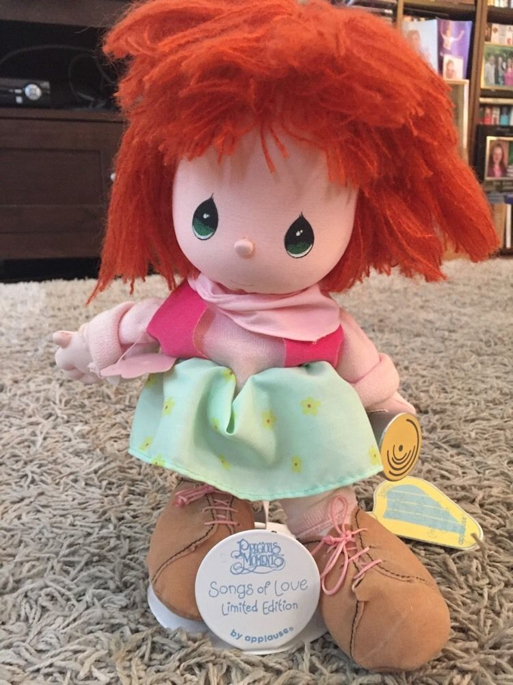Precious Moments Songs Of Love Limited Edition Janie Doll With Tag And Stand