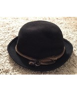 Vintage Classic Adam Fedora Hat W/ Aqua Shed By Miller Bros Hat Co - $49.99
