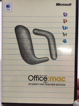 Microsoft Office Mac 2004 Student And Teacher Edition With 3 Keys - $29.99