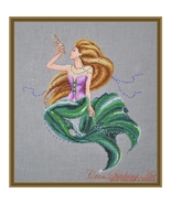 Sea Treasures mermaid cross stitch chart Cross Stitching Art - $13.50