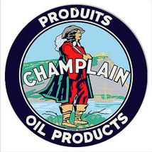 Champlain Oil Products Reproduction Motor Oil Metal Sign 14 Round - $25.74
