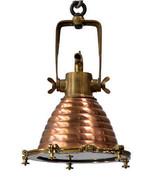 Vintage Style Marine Copper and Brass Medium Wiska Pendant Light,13'' x ... - $688.05