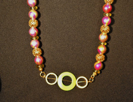 Tulips in Gold Necklace - $22.00