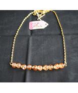Orange Crackle Glass Necklace - $15.00
