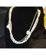 Pearl and Crystal necklace - $36.00