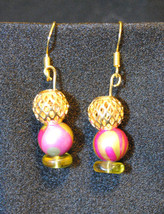 Tulip Gold dangle Earrings - $8.00