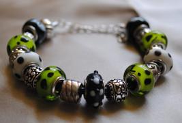 Green with Black spots Euro Bracelet - $35.00