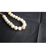 Glass Pearl & Crystal Necklace - $60.00