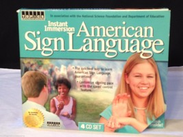 NEW Instant Immersion ASL American Sign Lanagua... - $26.68