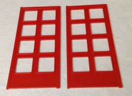 REPLACEMENT Playmobil # 5981 City Action Firehouse (2) FRONT DOORS Piece... - $11.53