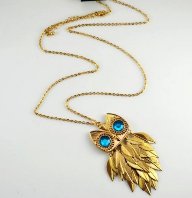 Primary image for Fashion Unique Owl Pendant Long Necklace