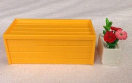 REPLACEMENT Playmobil 4190 LG Horse Farm Stable Yellow BOX w/ FLOWER POT... - $9.75