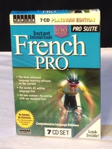 NEW Instant Immersion FRENCH PRO Lanaguage Learning Software - 7 CD Plat... - $22.23