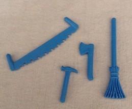 REPLACEMENT Playmobil #4490 Large Animal Farm BLUE TOOLS LOT Piece Part ... - $9.75