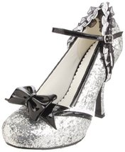 Ellie Shoes Women's 453-Lacey Pump,Silver Glitt... - $51.94