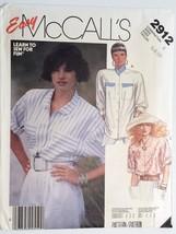 McCalls 2912, Misses' Shirt, Size 6,8,10 - $4.95