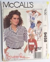 McCalls 9458, Misses' Shirt, Size 6,8 - $4.95
