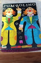 Original JUMBOLINO CLOWN Puzzle VTG Made in Holland Bright Colors Thick ... - $23.36