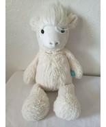 "Manhattan Toy Adorables Llama Lou Stuffed Animal 16"" Ivory Texture Lines - $11.86"