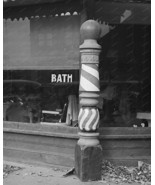 Old Style  Barber Pole Vintage  8x10 Reprint Of... - $20.20