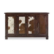 Beautiful Cow Hide Wood Buffet Sideboard,47.5''W X 32''H. - $1,678.05