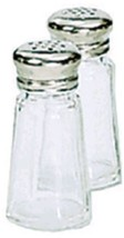 Adcraft Admiral Craft SMT-1 Glass Salt & Pepper... - $2.99