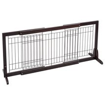 Adjustable Solid Wood Free Stand Dog Gate Pet Fence - $79.00