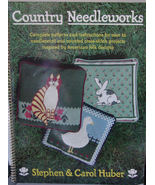 "Book ""Country Needleworks"" Over 25 Needlepoint and Counted Cross Stitch ... - $5.00"