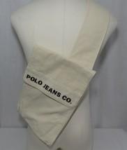 Vtg Polo Jeans Co Large Messenger Satchel Side Hip Bag Canvas Off White - $98.95