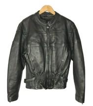 UNIK Ultra Heavy LEATHER Motorcycle Zip Buckle Lined Jacket Womens Size ... - $111.85