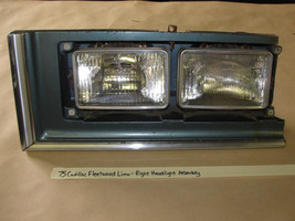 OEM 75 Cadillac Fleetwood RIGHT HEADLIGHT BUCKET BEZEL TRIM MOLDING ASSE... - $129.99