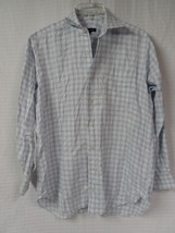 Men's ROBERT TALBOTT Casual Dress Shirt Size 15.5 - 34 White w/ blue che... - €16,93 EUR