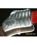 VTG Wilton Flag Cake Pan Waving American Flag +Jell-o Red Plastic USA Fl... - $4.94