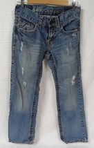 GUC Men's AMERICAN EAGLE Low Rise Boot Cut Jeans Size 26x28 Thick Stitch AE - $26.95