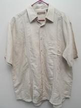 EUC Men's CUBAVERA Beige KHAKI Ramie Rayon Blend Button Up Casual Shirt XL - $32.95