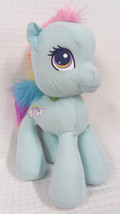 "New RAINBOW Dash My LITTLE Ponies 17"" Plush SEWN Face 2010 Hasbro 93648 ... - $59.95"