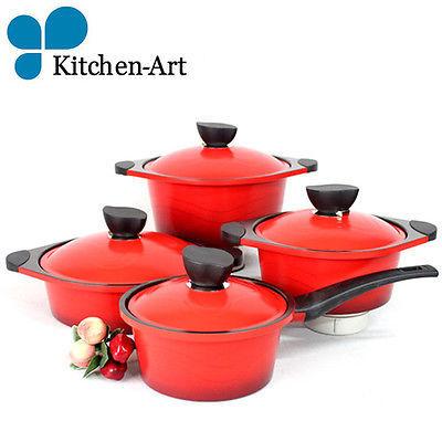 kitchen art Cookware 4 pcs  sauce pan Casserole Low Casserole Casserole