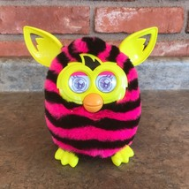 2012 Furby Boom Pink Black Zebra Print WORKS! Electronic Talking Toy Hasbro - $23.74
