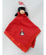 Nwot BLANKETS And BEYOND Penguin RED White Velour SECURITY Blanket LOVEY Clean - $13.56